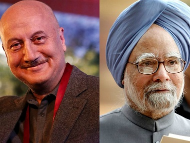 Anupam Kher and Dr Manmohan Singh. Images from Facebook