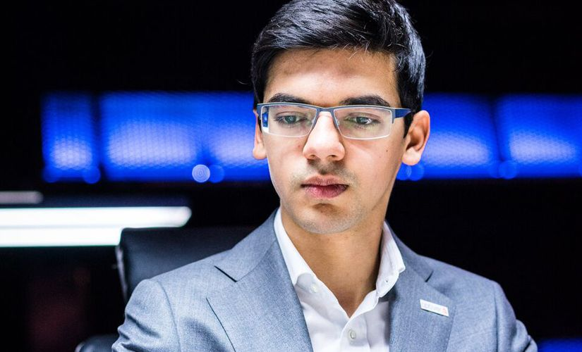 """I don't think so!"" Anish Giri came out with aggressive intentions! Image courtesy: Lennart Ootes"