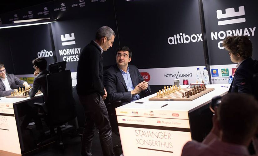 The game of the day was definitely between Vladimir Kramnik and Magnus Carlsen.