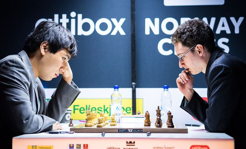 The other draw of the round was in the all-American clash between Wesley So and Fabiano Caruana. Image courtesy: Lennart Ootes
