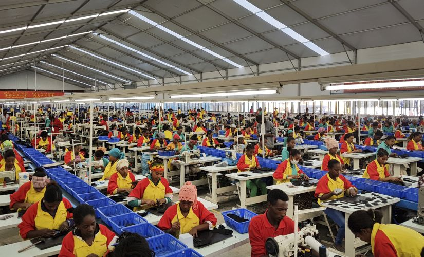File image of Ethiopian workers working at Ivanka Trump's shoe factory. AP