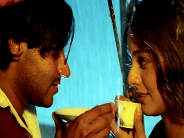 Ajay Devgn and Tabu in a still from Haqeeqat. YouTube