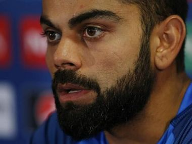 India's Virat Kohli during a press conference. Reuters