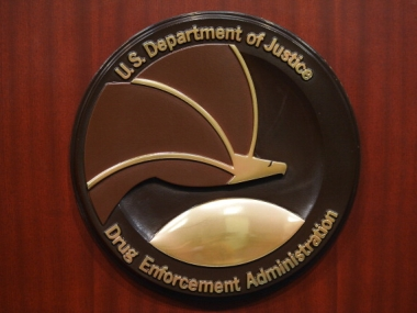 The seal of the Drug Enforcement Agency. Getty Images