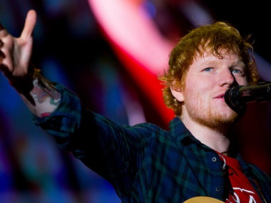 Ed Sheeran. Image from Getty Images.