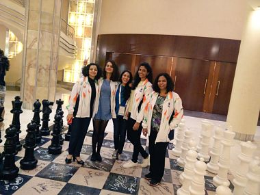 The Women's team at the World Team Chess Championships