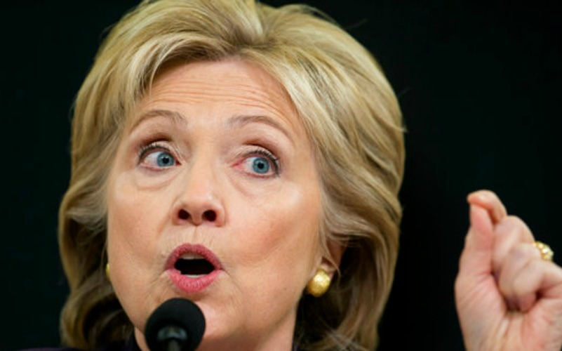 Former secretary of state Hillary Clinton testifies on Capitol Hill in Washington, before the House Benghazi Committee. AP