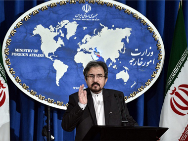File image of Iran foreign ministry spokesman. Getty Images