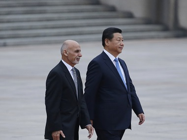Afghanistan's president Ashraf Ghani Ahmadzai and China's president Xi Jinping. Reuters