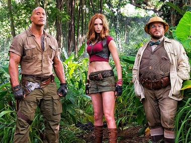 A still from Jumanji 2. Image from Twitter
