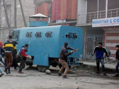 File image of unrest in Kashmir. PTI