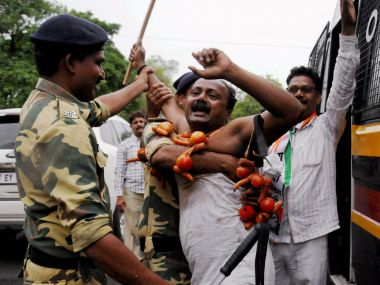 File image of a farmer protesting in Nagpur. PTI