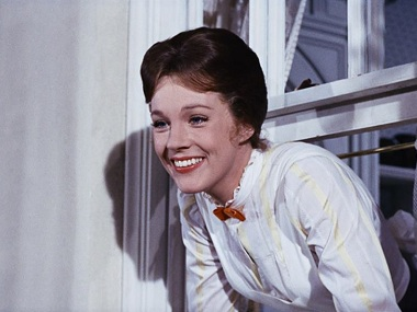 Julie Andrews as Mary Poppins. Image from Facebook