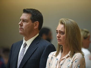 Michelle Carter during the trial. AP