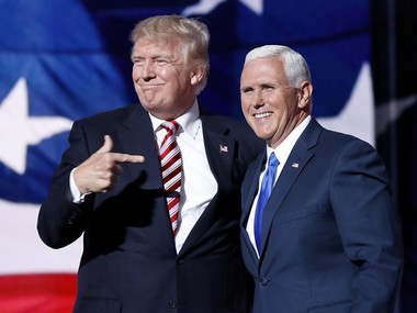 File image of Mike Pence and Donald Trump. AP