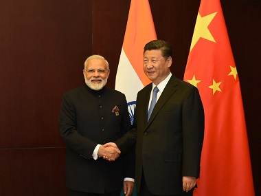 Prime Minister Narendra Modi with Chinese president Xi Jinping at the SCO Summit 2017 (representational image). Twitter/@NarendraModi