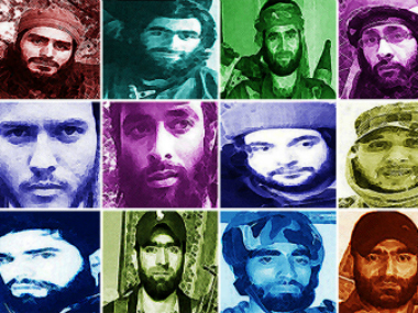 The pictures of the militants listed by the Indian Army. News18