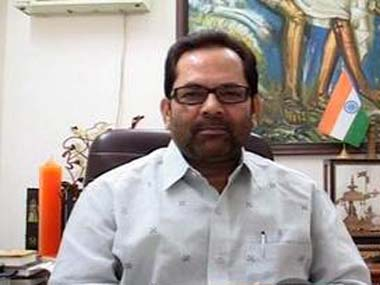 File image of Mukhtar Abbas Naqvi. CNN-News18