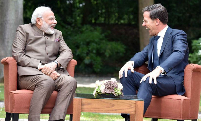 Prime Minister Narendra Modi met with his Dutch counterpart Mark Rutte on Tuesday. Twitter/@narendramodi