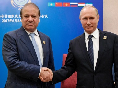 File image of Vladimir Putin and Nawaz Sharif. AP