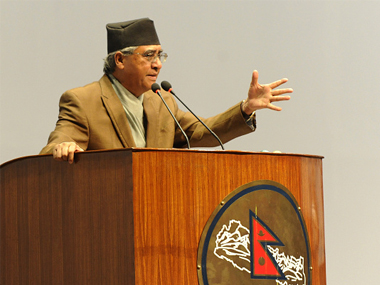 File image of Nepali Congress president Sher Bahadur Dueba. Getty Images
