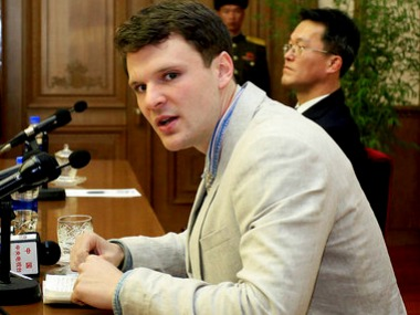 File image of US student Otto Warmbier. AP