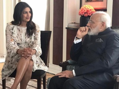 File image of Priyanka Chopra with Prime Minister Narendra Modi. Image via Instagram
