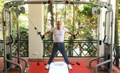 Vladmir Putin working out. Getty images