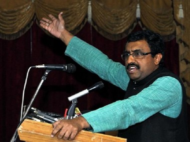 File image of Ram Madhav. CNN-News18