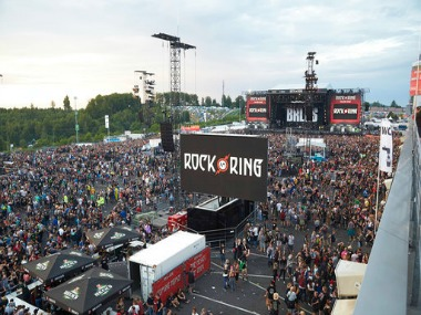 Visitors leaving the Rock am Ring. AP
