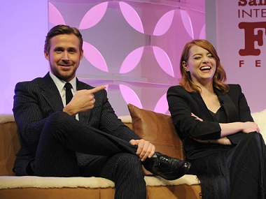 Ryan Gosling and Emma Stone. Image from Getty Images.