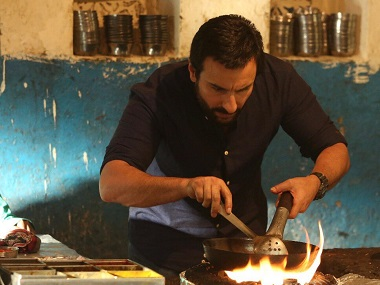 Saif Ali Khan in a still from Chef. Image from Twitter