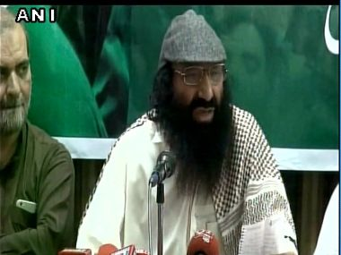 File image of Hizbul Mujahideen chief Sayeed Salahudeen. Image courtesy: @ANI_news