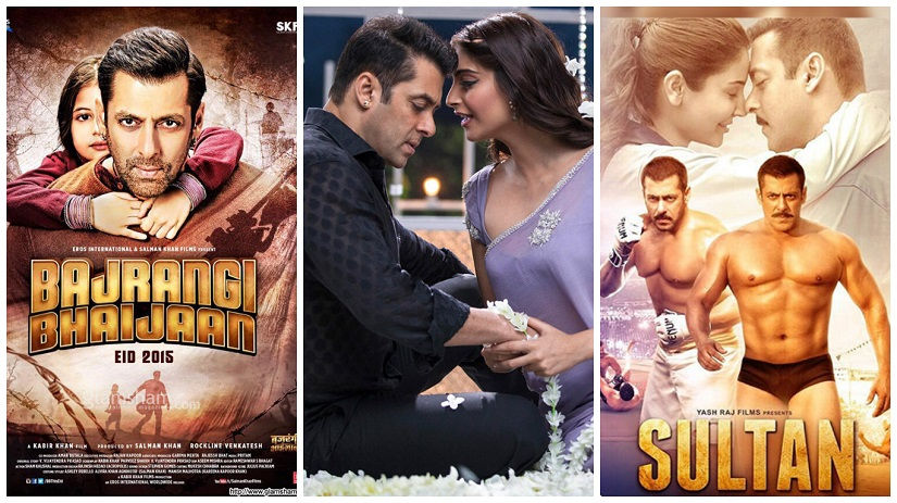 (L-R) Bajrangi Bhaijaan, Prem Ratan Dhan Payo, Sultan raised expectations over Tubelight's box office collection