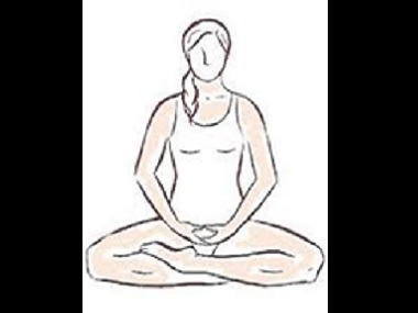 Sitting pose for breath meditation. Illustration courtesy the writer
