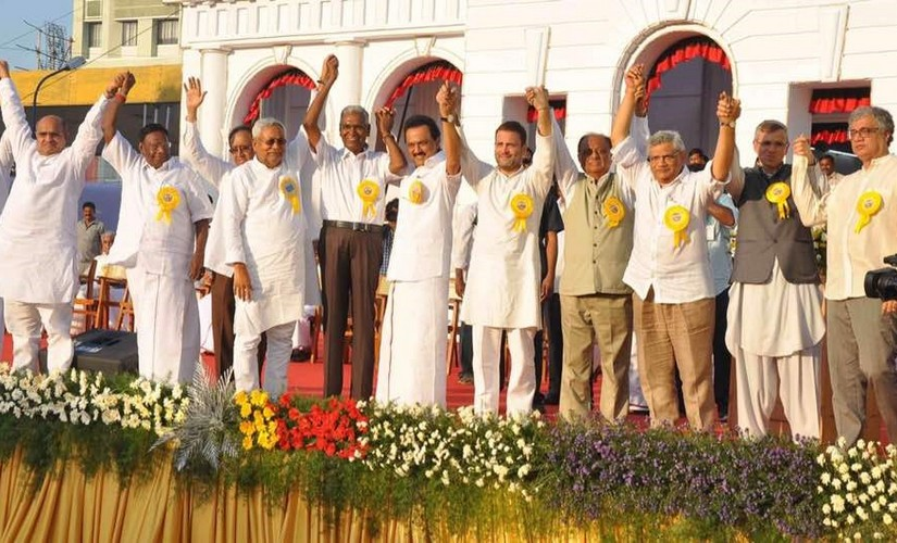 A galaxy of leaders converged on Chennai to take part in DMK chief M Karunanidhi's 94th birthday celebrations. PTI