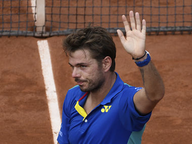 Stanislas Wawrinka at the 2017 French Open . AFP
