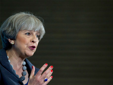 Britain's prime minister and Conservative party leader Theresa May. AP