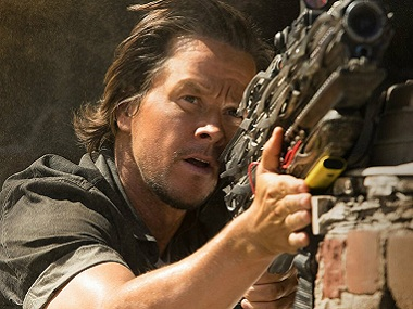 Mark Wahlberg in the Transformers. Image via Facebook.