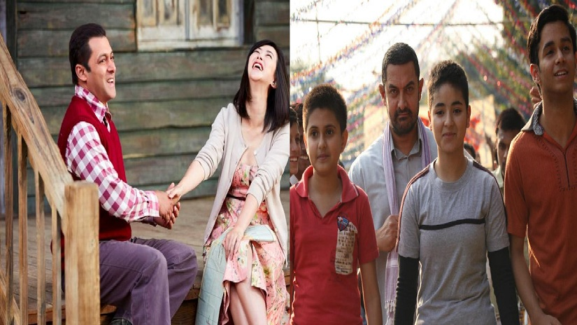 Stills from Tubelight and Dangal. Twitter