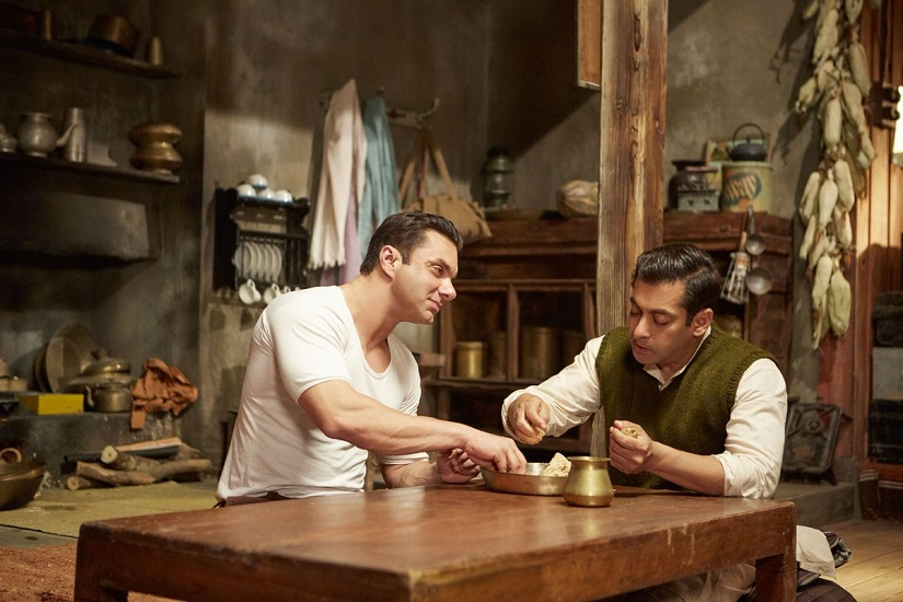 Sohail Khan and Salman Khan in Tubelight The film's box office collection currently stands at Rs 60+ crore. Image via Twitter.