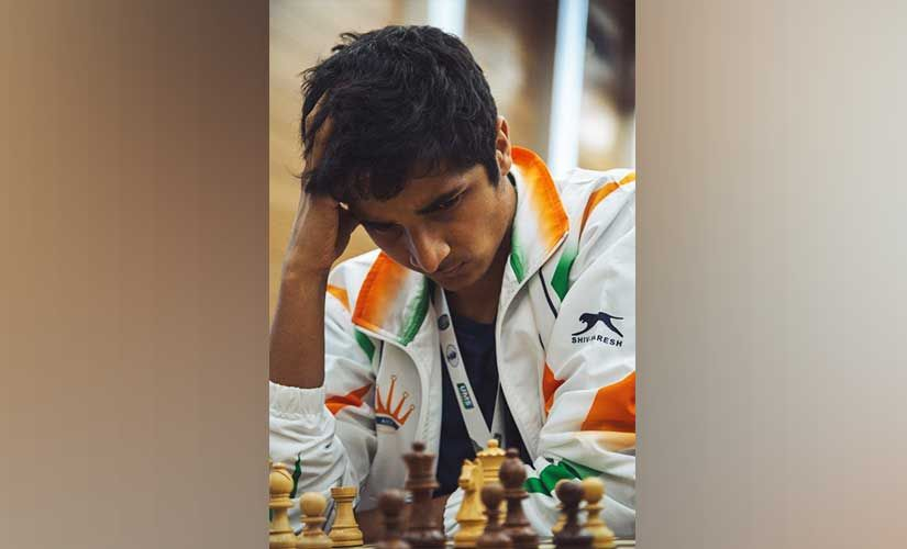 Vidit Gujrathi had to spend a lot of time to come up with the right moves against Dragan Solak.