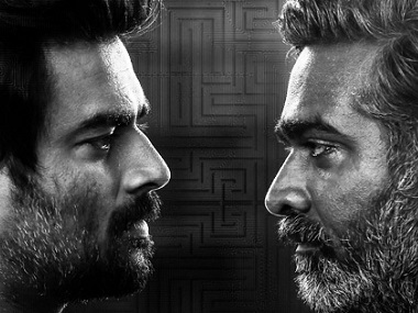 R Madhavan and Vijay Sethupai in Vikram Vedha. Image from Facebook