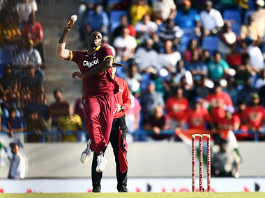 West Indies' captain Jason Holder in action during the fourth One Day International (ODI) AFP