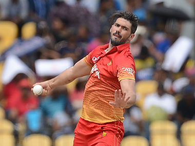 Zimbabwe captain Graeme Cremer delivers a ball in this file photo. AFP