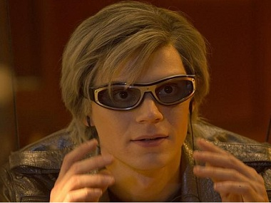 Evan Peters as Quicksilver. Image via Facebook