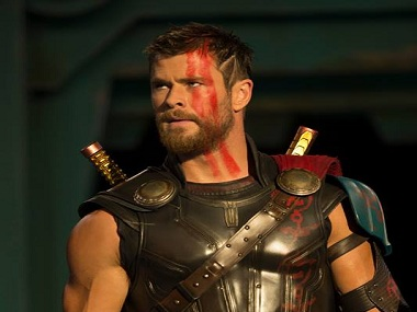 Chris Hemsworth in Thor: Ragnarok. Image via Facebook