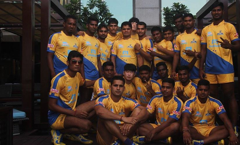 The Tamil Thalaivas team. Image courtesy: Facebook/Tamil Thalaivas