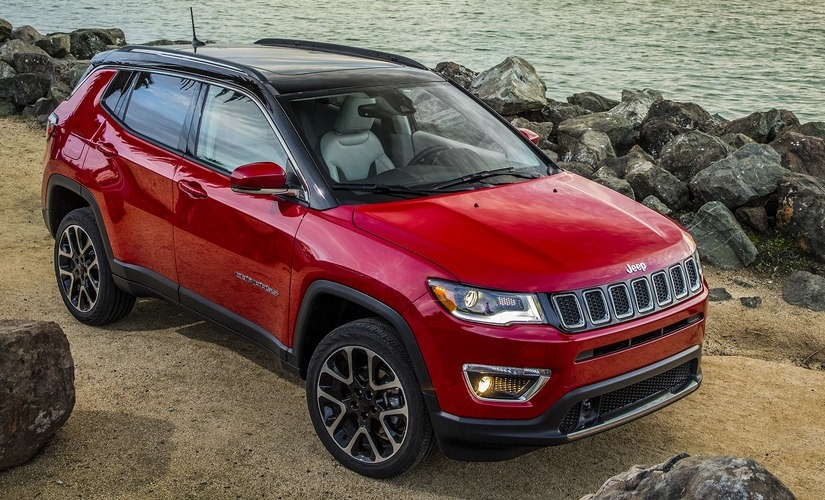 Side view 2017 Jeep Compass Limited driven off-road