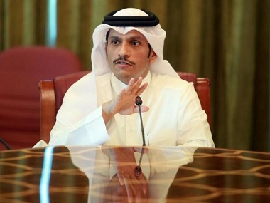 File image of Qatar's foreign minister Sheikh Mohammed bin Abdulrahman al-Thani. Reuters